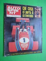 Autosprint 1972/1 Tecno Martini Robin Herd De Adamich Brm Lotus + Calendar