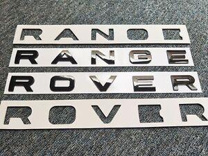 RANGE ROVER BRILLANT NOIR 3D LOGO EMBLÈME stickers autocollant