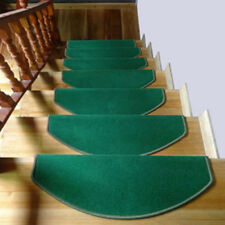 1PC Stair Tread Non-Skid Mat Step Carpet Sector Rug Home Decoration Solid Color