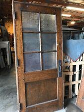 An To Antique Six Light Textured Glass Oak Passage Door 36 Inch