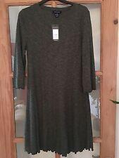 BMWT New Look Khaki Rib Swing Dress Size 14