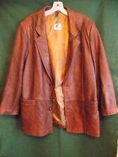PG Elfström Made in Sweden Brown Soft Leather Jacket Large