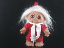 "1980 6.5"" Dam Elf White Hair, Red Shirt & Pants, White Scarf & Red Hat u638"