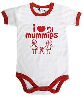 "LGBT Baby Bodysuit ""I Love My Mummies"" Baby grow Vest Gay Pride Mums Gift"
