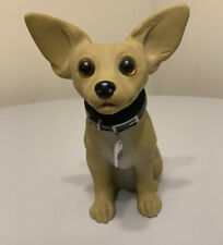 """Taco Bell Chihuahua Bobblehead """"Yo Quiero Taco Bell"""" Commercial Dog Toy 7"""" tall"""