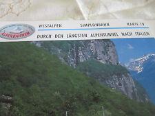Alpenbahnen Westalpen K 19 Birg Simplontunnel Domodossola längster Alpentunnel