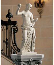 "Ancient Greek Roman Goddess Aphrodite Venus of Arles Bonded Marble 23/5"" Statue"