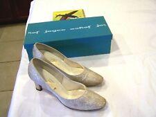 Joyce California gold brocade shoes/heels/pumps Nocturne, sz. 7Aaa original box
