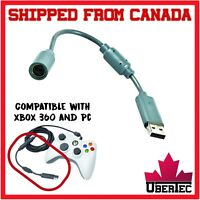 Breakaway Controller Connector Cable For Xbox 360 Wired Adapter USB Grey