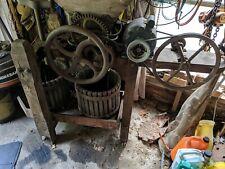 New listing Vintage Manual & Motor Cast Iron Wood Cider Grape Fruit Antique Press Winery