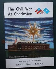 1961 Charleston,South Carolina Fort Sumter Civil War opening fight program-RARE!