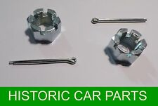 2 CASTELL NUTS & SPLIT PINS Fix Hub to ½ Shaft for MGB ROADSTER & MGBGT 1965 ON