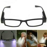 Multi-Strength Reading Glasses Eyeglass Spectacle Diopter LED Light L0J7
