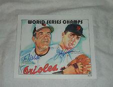 World Series Champs signed Joe Altobelli Johnny John Antonelli Rochester, NY JSA