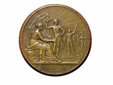 Art Nouveau Shooting Competition Medal by Alphée Dubois. Bronze Medal. M18a