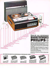 PUBLICITE  1968   PHILIPS   magnétophone