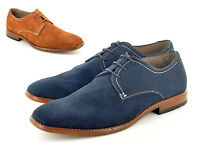 New Mens Genuine Leather Casual Formal Lace Up Brogue Shoes In UK Sizes 6-12