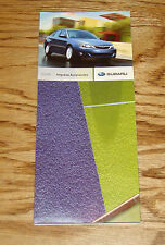 Original 2009 Subaru Impreza Accessories Foldout Sales Brochure 09