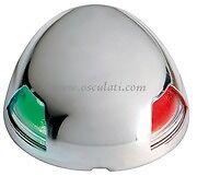 LED Bicolour Navigation Light Stainless Steel Case Red & Green 20m  NAVSEABIC