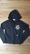 ED HARDY MENS HOODED JACKET SIZE S PRE -OWNED ,NEAR NEW CONDITION