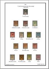 Album de timbres de Yunnanfou  1903-1919 à imprimer