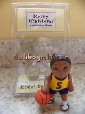 Hallmark 2000 Merry Miniatures Kids Collection Hooper Basketball Aa