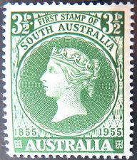 1955 Australian Pre Decimal Stamps:Cent 1st South Aust Postage Stamp-Single MNH