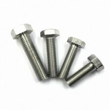 M4 - M16 304 Stainless Steel Hex Head Cap Screws Bolts Left Hand Thread Select