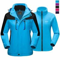 3-in-1 Women Outdoor Ski Sport Jacket Winter Hiking Mountain Camping Thick Coat