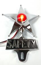 Safety Star License Plate Topper, Dual Function Red LED, VTG Car Accessory