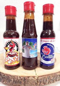 3 pack Salsa la Callita +Salsa la Camañanga + la nueva salsa del marisquero