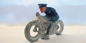 VINTAGE  BARCLAY POLICE MOTORCYCLE COP LEAD TOY HARLEY INDIAN Manoil
