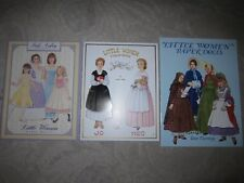 Vtg Pb books, Little Women Paper Dolls, Peck Aubry, Helen Page, Tom Tierney