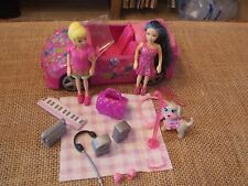 Polly Pocket Lot Dolls Girls Car Convertible Pink Picnic Accessory Pet  X49