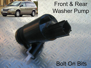 Front & Rear Windscreen Washer Pump Chrysler Grand Voyager 2004 to 2008 American