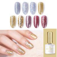 6ml BORN PRETTY Gold Silver Glitter Soak Off UV Gel Sequins Nail Art Gel Varnish