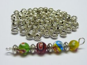 100 pce Tibetan Silver Saucer Spacer Beads 5mm x 3mm Jewellery Making Craft