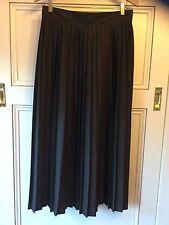Vintage Ashley Taylor Size 14 ( Size 10?) Brown Pleated Maxi Skirt (waist 70cm)
