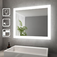 SONNI Badspiegel mit LED Beleuchtung Wandspiegel Badezimmerspiegel 60x50cm