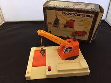 Vintage Tomy Pocket Car Car Crane Toy 4605 mini play set rare in box