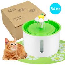 Pet Water Fountain Automatic Dog Cat Drink Dispenser Bowl Food Mat Pump & Filter