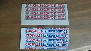Crosville  code 3 model bus kit  bus  advert decals qty 4 strips  x2 see pics