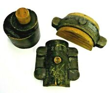 LOT OF 3 BLACK PAINTED FOUNDRY PATTERNS CASTING MORSE BROS INDUSTRIAL SCULPTURE