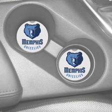 MEMPHIS GRIZZLIES RUBBER CAR COASTERS SET (2) NBA BASKETBALL