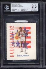 BGS 8.5 w/9 MAGIC JOHNSON 1991-92 Skybox Mark & See Minis #533 Team USA NM-MINT+