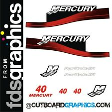 Mercury 40hp four stroke EFI outboard decals/sticker kit