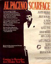 SCARFACE 1983 POSTER ADVERT AL PACINO brian de palma