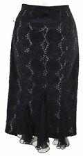KAREN MILLEN Womens Pencil Skirt UK 8 W26 L25 Black  II05