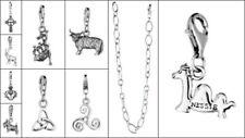 Charms y pulseras de charms de joyería de plata de ley