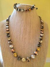 Swarovski crystal elements 8mm Necklace Bracelet Jewelry Rose Gold